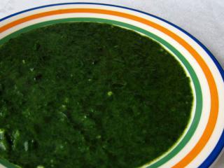 Spenót főzelék mirelit spenótból