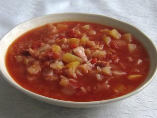 Káposztás paradicsomos leves