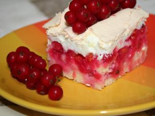 Ribizlis habos sütemény