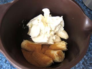 Banános-túrós töltelék