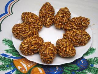 Karamellás-diós édesség