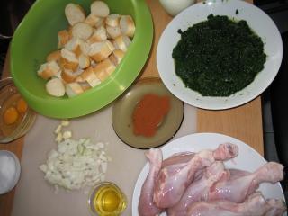 A csirke combok elkészítése