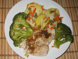 Egyszerű csirkemell brokkolival