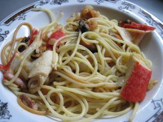 Spagetti a tenger gyümölcseivel