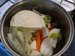 A zöldség elkészítése