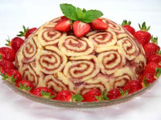 Epres tekercses torta