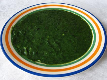 Spenót főzelék, friss spenótból
