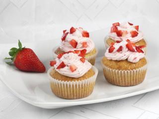 Epres cupcakes mascarpone krémmel.