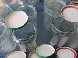 Az üvegek előkészítése