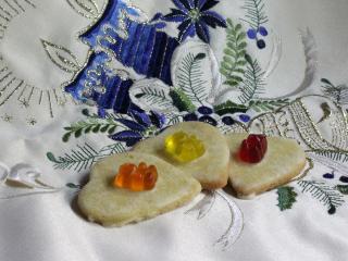 Mandarinos linzer szívecskék