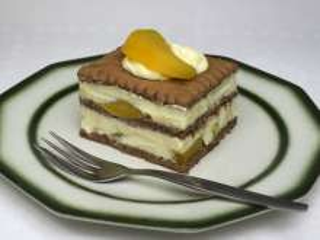 Túrós-őszibarackos desszert