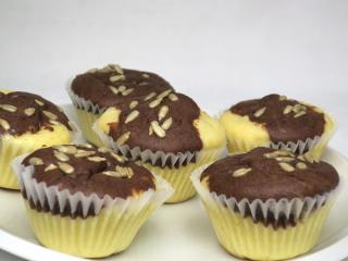 Színes túrós muffin