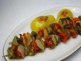 Alufóliában sült pulykanyárs