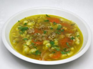 Fodros káposztagombából készült leves