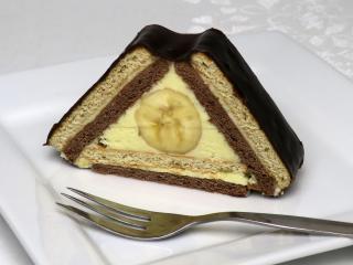Csokis banános sütemény