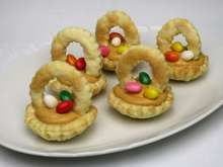 Karamellás húsvéti kosárkák