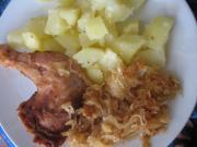 Káposztás csirke combok