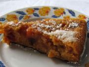 Karamellás - nektarinos sütemény