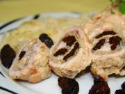 Csirke tekercsek káposztával és szilvával