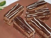 Csokoládés-diós szelet