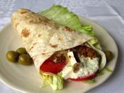 Görög csirkés wrap