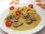 Pulykacombok curry- szószban