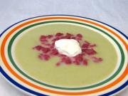 Póréhagymakrém leves