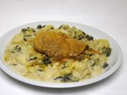 Tejfölös kelkáposzta főzelék sertés hússal