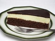 Csokoládés-túrós desszert szelet