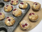 Málnás mandulás muffin